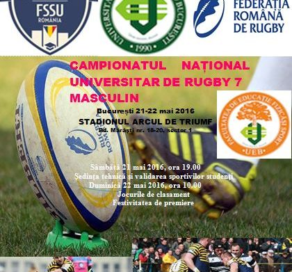 Programul campionatului national universitar