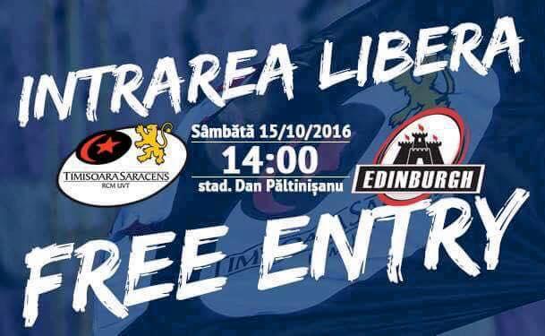 Echipele de start la Timisoara - Edinburgh