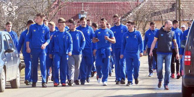Cantonament rustic la Iclod pentru lotul national U20