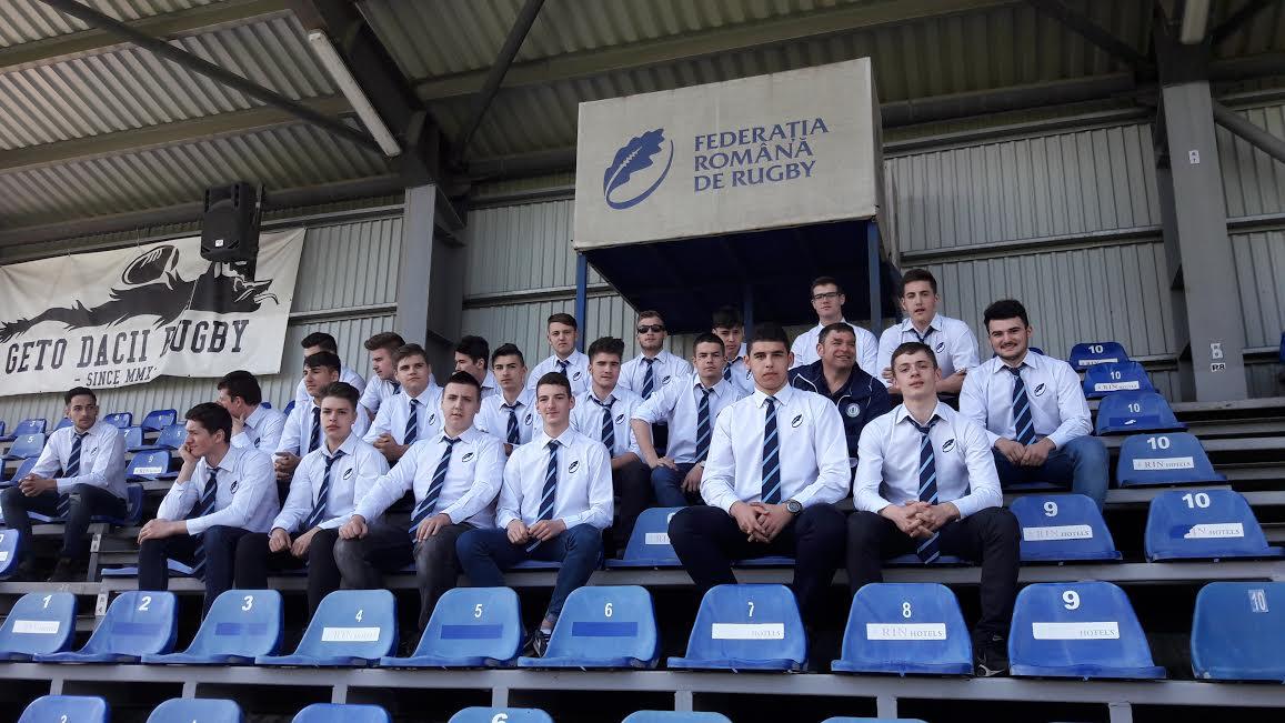 Rugbystii de la Cornu prezenti la Arcul de Triumf