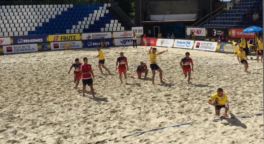 Romania locul 4 la Campionatul European de rugby pe plaja