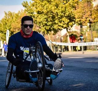 George Balta participant la maraton